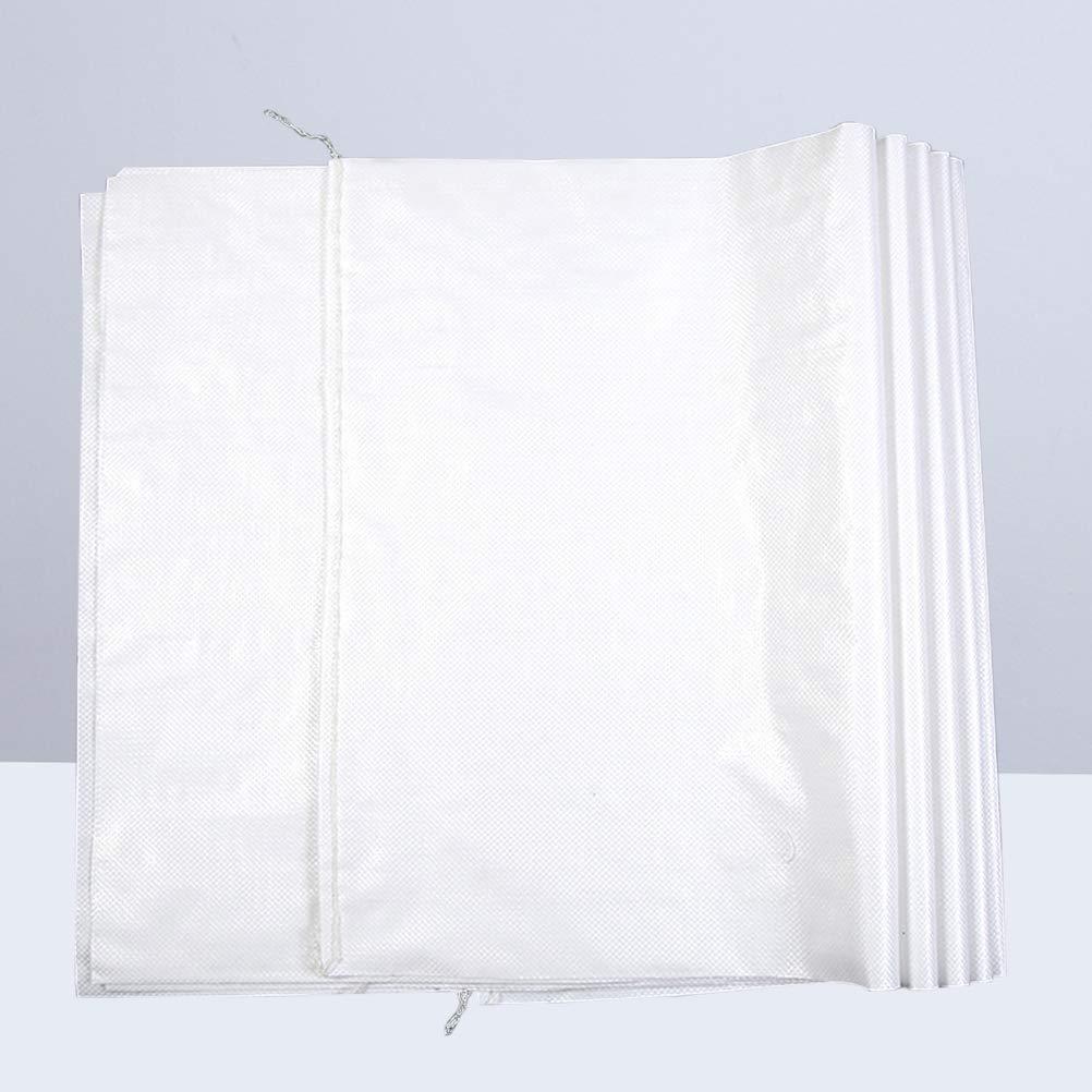 Yardwe 10 ST/ÜCKE Sand Taschen Leere Wei/ße Gewebte Tasche Gunny Sack Sand Taschen Kunststoff Schlangenleder Wasserdicht Staubdicht Tasche F/ür verpackung 35x57 cm