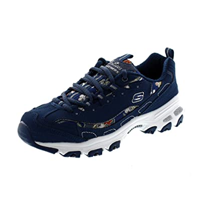 ee9aa16239cd2 Skechers Women s D Lites-Floral Days Trainers  Amazon.co.uk  Shoes   Bags