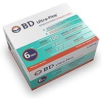 BD Ultra-Fine Jeringa, 1 ml, 31 g x 6 mm, 100 Cuentas