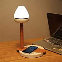 DLLL LED Desk Lamp,Eye-Caring Table Lamps,Dimmable Office Lamp with Qi Phone Wireless Charging Touch Control LED Night…