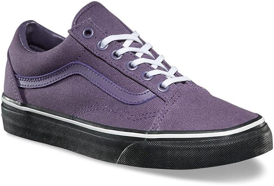 5b9c888b8a1 Vans Mens Old Skool Black Outsole Montana Grape Purple Skate Shoes ...
