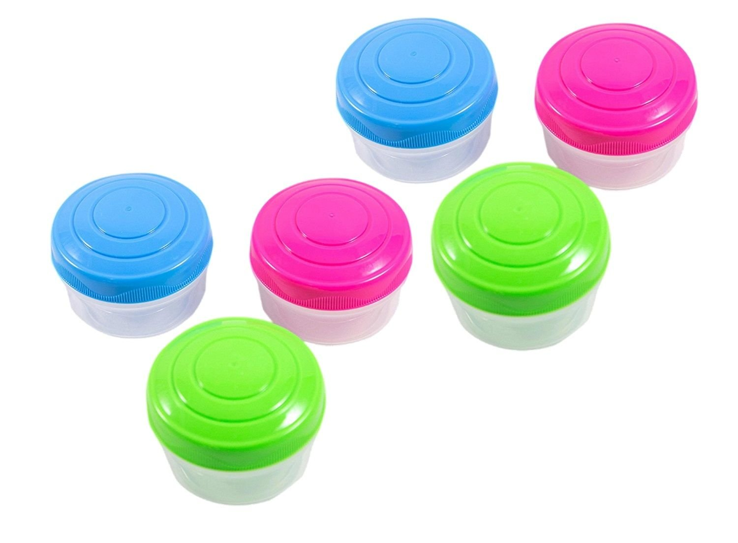 Sistema To Go Collection Mini Bites Small Food Storage Containers, 4.3 oz./127 mL, Pink/Green/Blue, 3 Count 21467NW