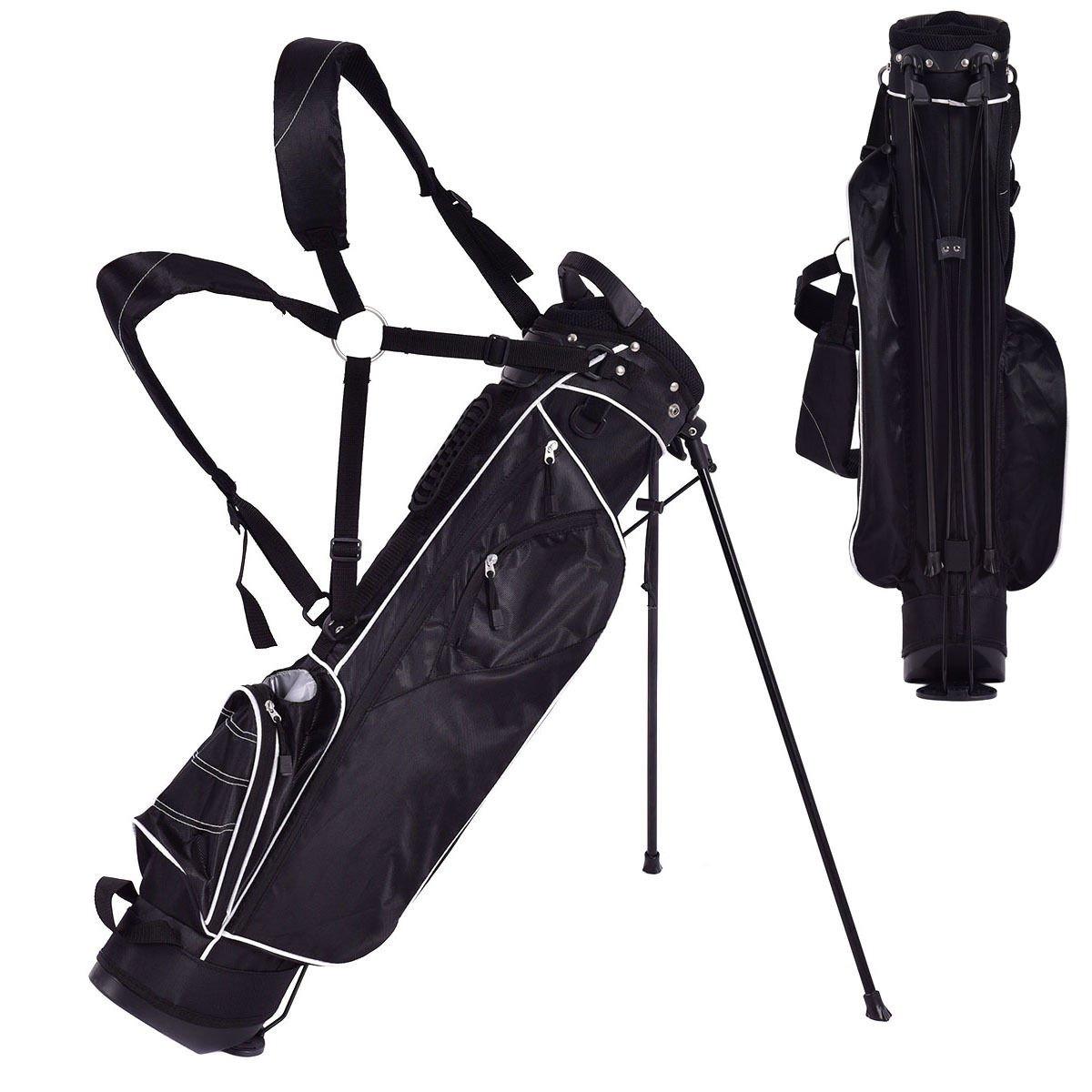 Amazon.com : Tangkula Golf Bag w/4 Way Divider Stand Cart Bag (Black ...
