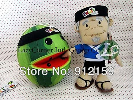 Amazon.com: 2 x Fruit Ninja sandía peluche, fruta corte en ...