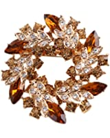 niceeshop(TM) Women Graceful Fashion Crystal Rhinestone Bauhinia Brooches Pins
