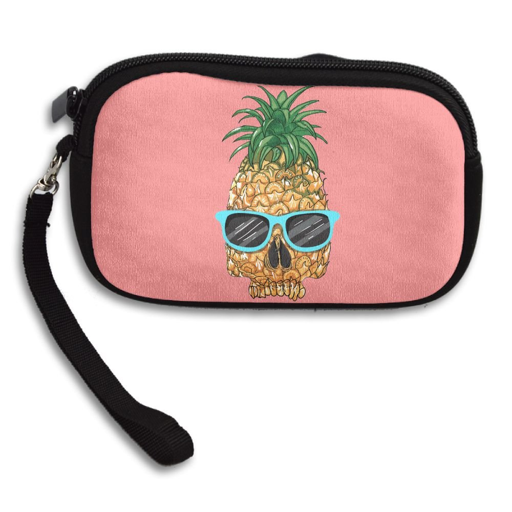 Pineapple With Glasses Comfortable Coin Purse Storage Package Wallet Zipper Mini Wallet
