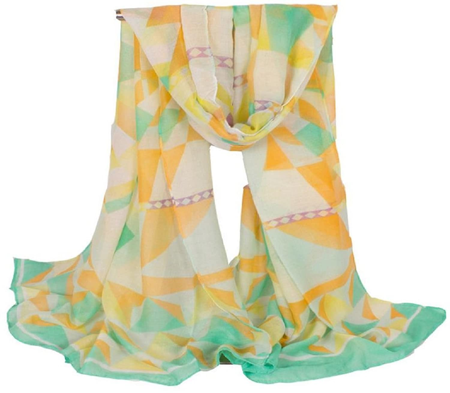 Bettyhome Women Retro Spring Beautiful Soft and Silky Geometrical Pattern Shawl Scarves