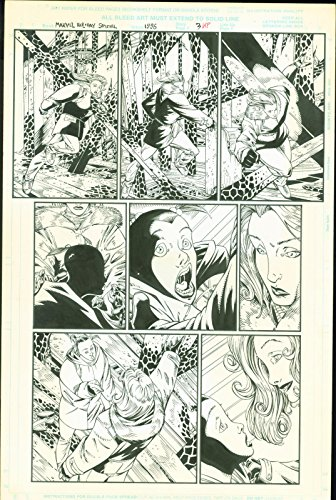Marvel Holiday Special 1996 Storm X-Men Josh Hood Original Comic Art Page #3