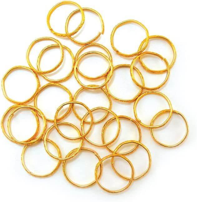 WB200A Multicraft Imports WB200AWedding Rings 3//4 24//Pkg-Gold