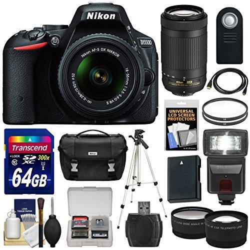 nikon-d5500-wi-fi-digital-slr-camera-18-55mm-vr-dx-ii-af-s-black-with-70-300mm-af-p-lens-64gb-card-c