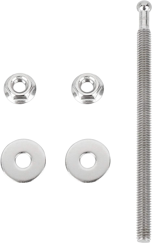 X AUTOHAUX 2 Set Black Silver Tone Bumper Quick Release Latch License Plate Clip Hood Pins Lock for Car 1.25 100mm