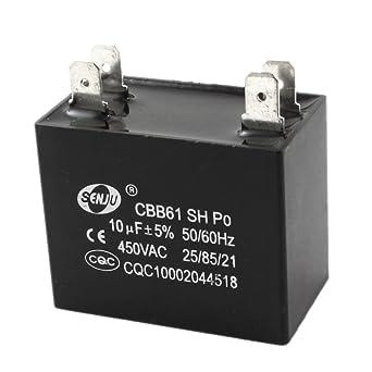 AC450 V 10uF 5% Tolerancia Motor Run condensador para Aire Acondicionado Ventilador: Amazon.es: Industria, empresas y ciencia