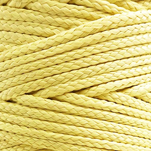 (emma kites Kevlar Braided Cord 500lb 500ft High Strength Low Stretch Tent Tarp Guyline Suspension for Camping Hiking Backpacking Recreational Marine Outdoors Activities)