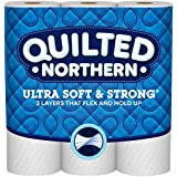 Quilted Northern Ultra Soft & Strong Mega-Roll Toilet Paper, Pack of 12 Mega Rolls, Equivalent to 36 Regular Rolls