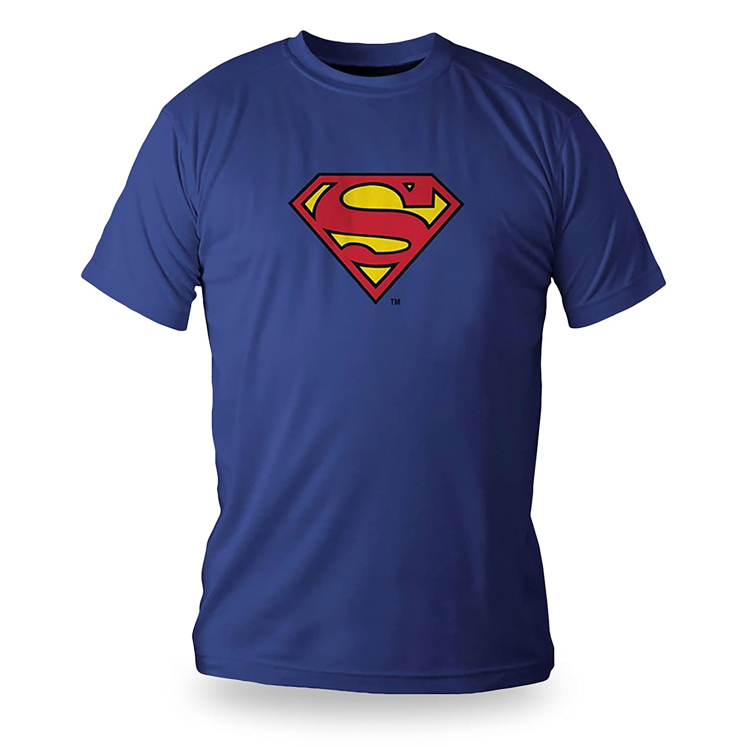 Superman DC Comics Superhero Logo Deluxe T-Shirt Cotton Blue in Metal Box