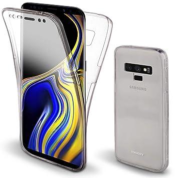 e8e55447d2c Moozy Funda 360 Grados para Samsung Note 9 / Galaxy Note9 Transparente  Silicona: Amazon.es: Electrónica