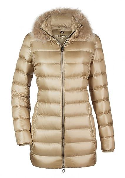 piumino giacca donna beige