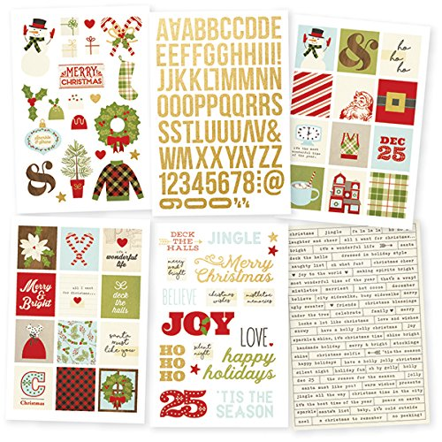 Simple Stories 7332 Classic Christmas Stickers by Simple