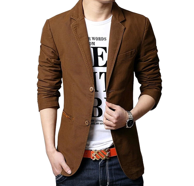 Arkind Homme Veste Blazer Vestons Slim Fit Costume Jacket Blouson Boutonnage