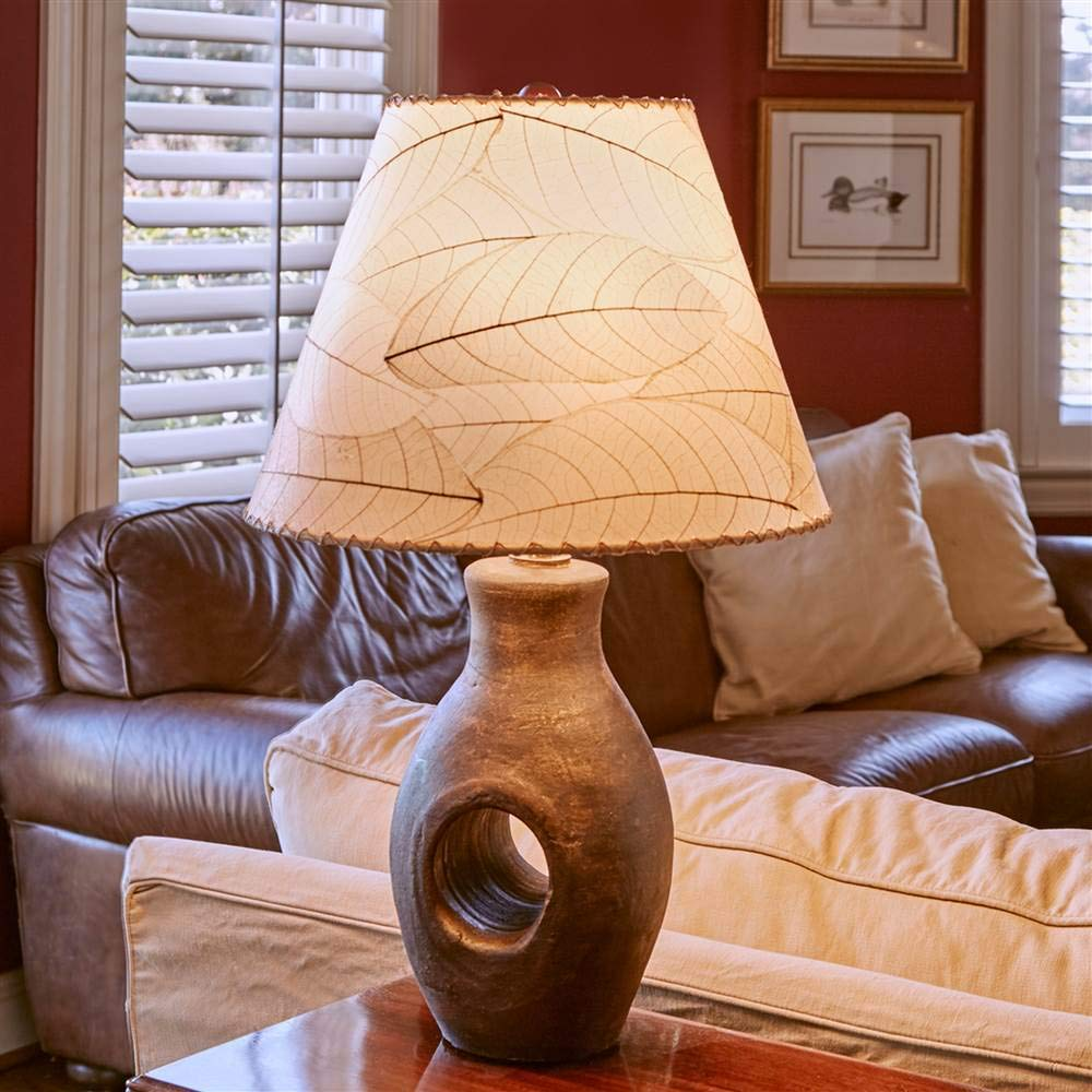 Eangee 486-n Contemporary Cocoa Leaf Lamp Shade, Natural