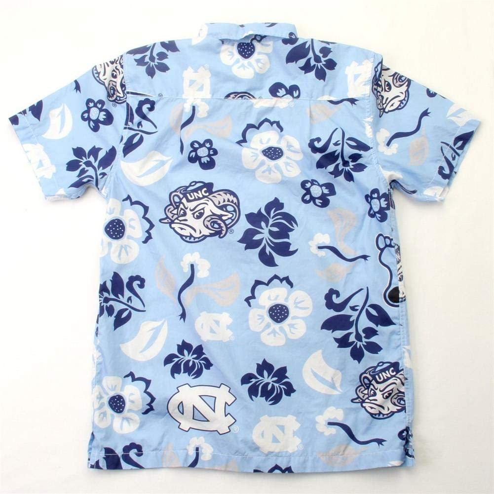 Wes and Willy NCAA Mens Short Sleeve Button Up Floral Beach Shirt