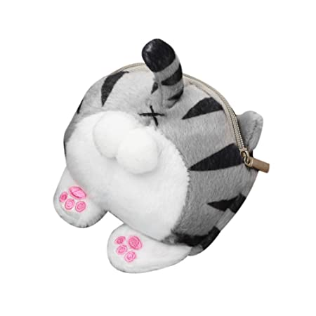 Amazon.com | Cute Cat Butt Tail Plush Coin Purse Change ...