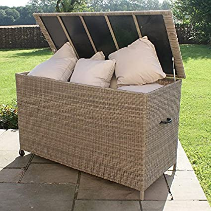 Maze Rattan Winchester Rattan Garden Furniture Cushions Storage Box
