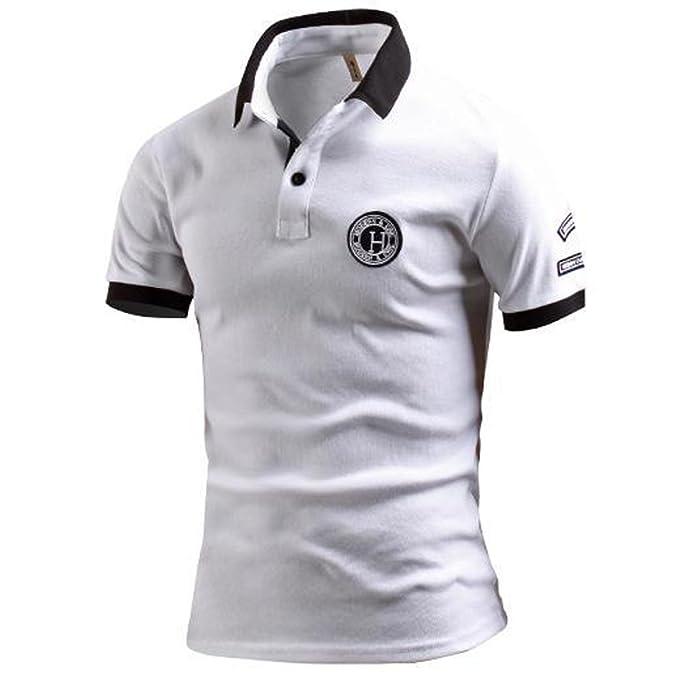 LIANIHK Polo para hombre manga corta ropa de calle Tee Poloshirt  Amazon.es   Ropa y accesorios a4af2061092e0