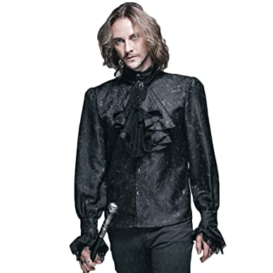 Amazon.com: Devil Fashion Steampunk Men Shirts Gothic Victorian ...