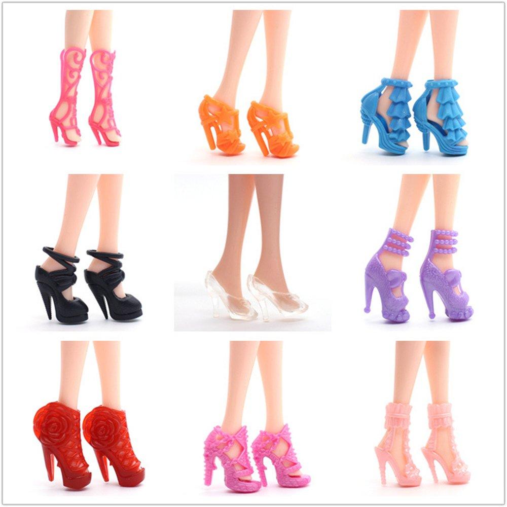 Amazon.es: Runfon Accesorios para Barbie, Accesorios de Vestir para Las Muñecas de Barbie, 10pcs Verano Faldas Vestidos + 2 pcs Vestido de Novia +98 ...