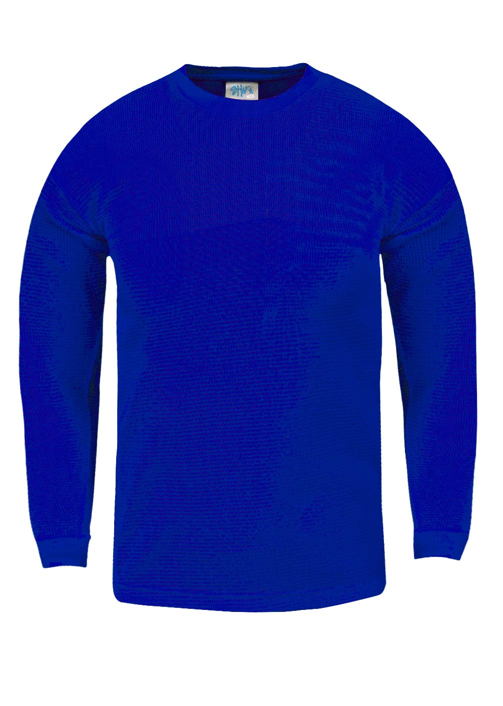 KTC13_L Thermal Long Sleeve Crewneck Waffle Shirt Royal L by Shaka Wear