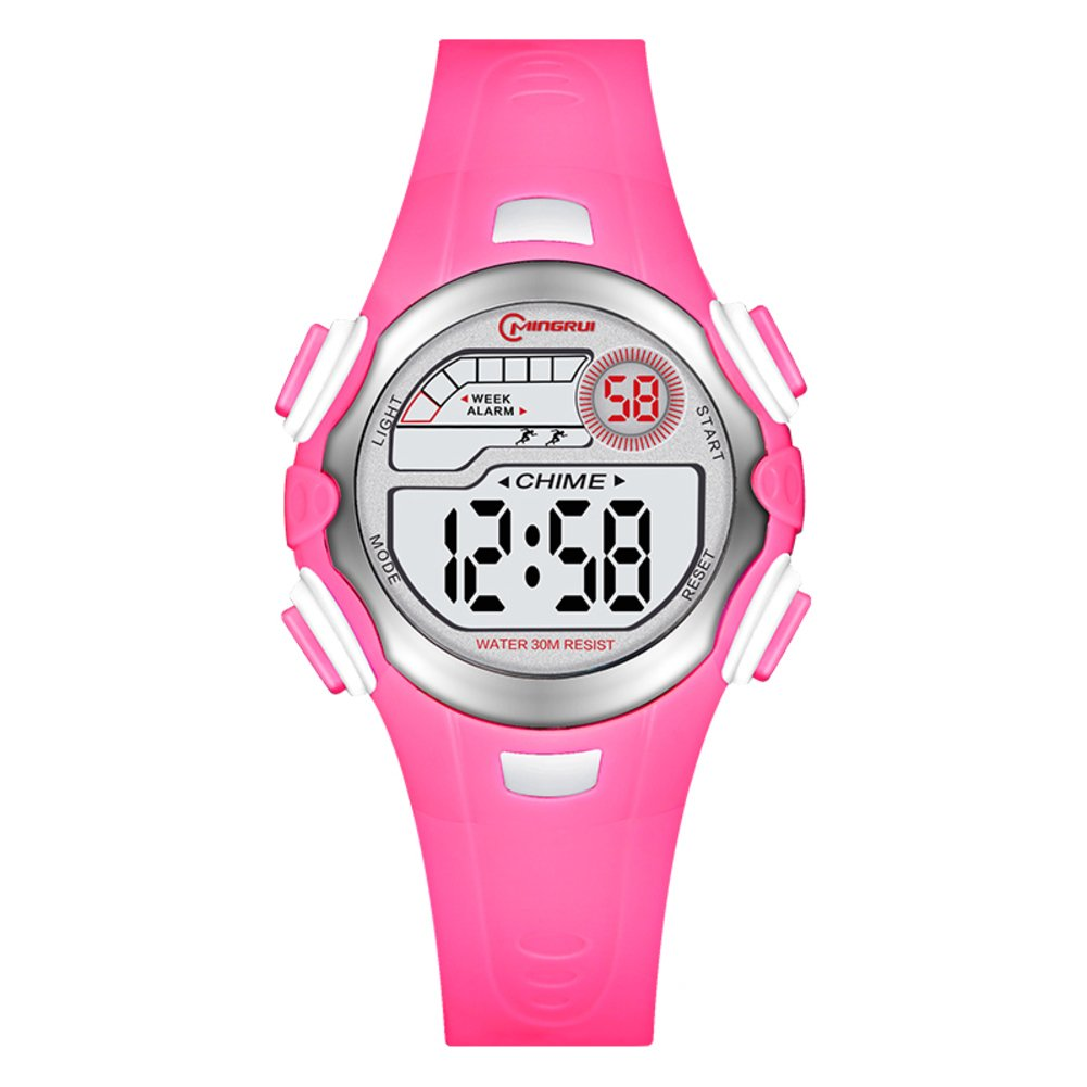 [child] Electronic watches,Water resistant 30 m lives Digital stopwatch Luminous Alarm Simple [lovely] Student Chronograph stopwatch-K