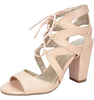 fd9f96f2d6f8d9 TOETOS Women s Stella-03 Summer Open Toe High Chunky Heel Gladiator Sandals