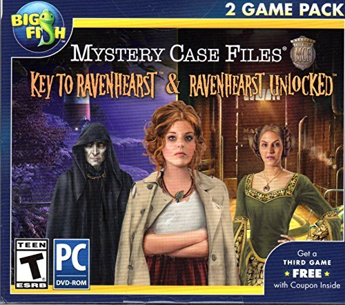 Mystery Case Files KEY TO RAVENHEARST + RAVENHEARST UNLOCKED Hidden Object PC Game (Hidden Objects Computer Games)