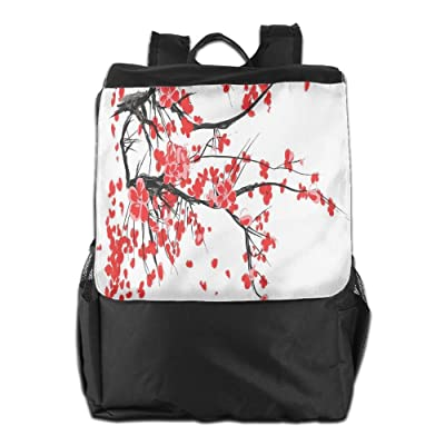 Newfood Ss Japanese Cherry Blossom Sakura Blooms Branch Spring Inspirations Print Decorative Outdoor Travel Backpack Bag For Men And Women
