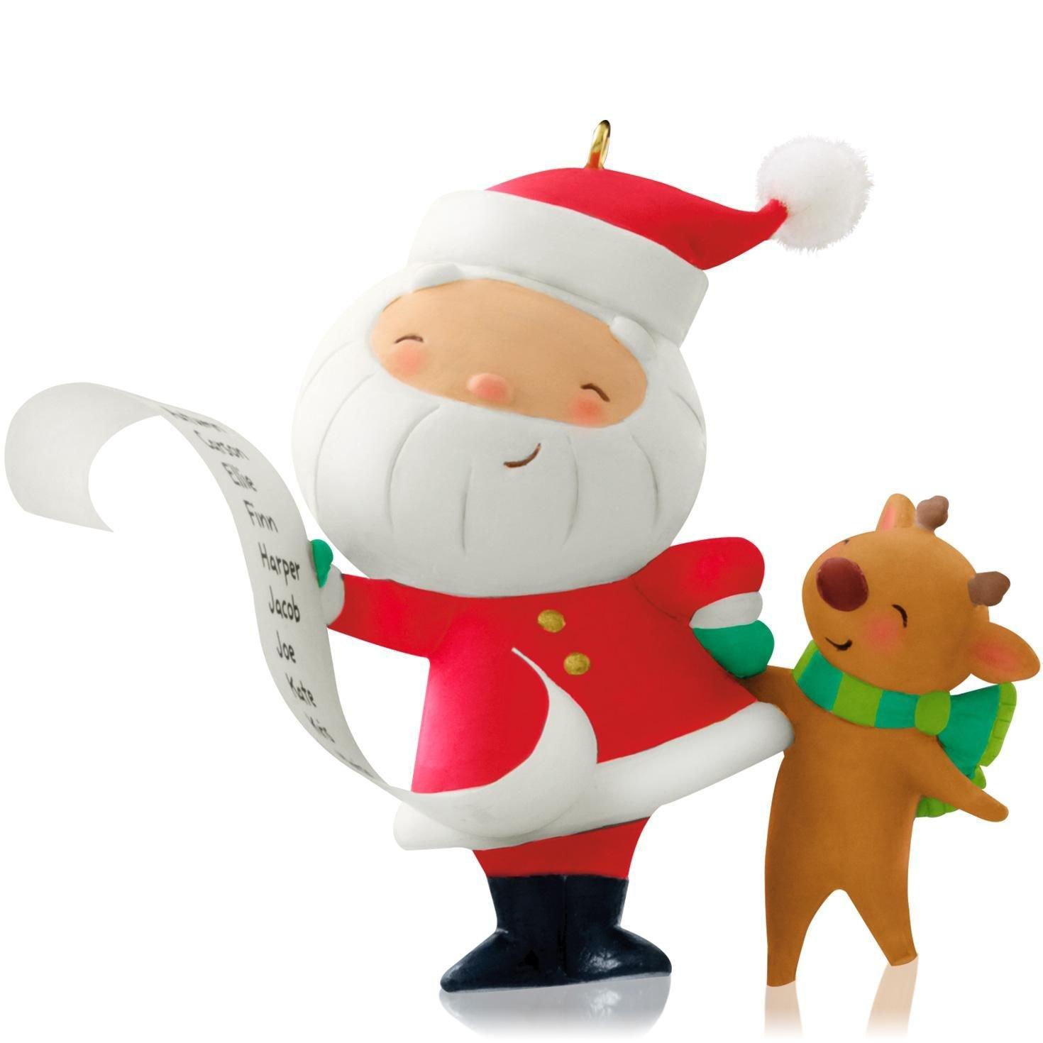 Amazon.com: Hallmark 2014 Kringle and Kris 1st in Series Ornament ...