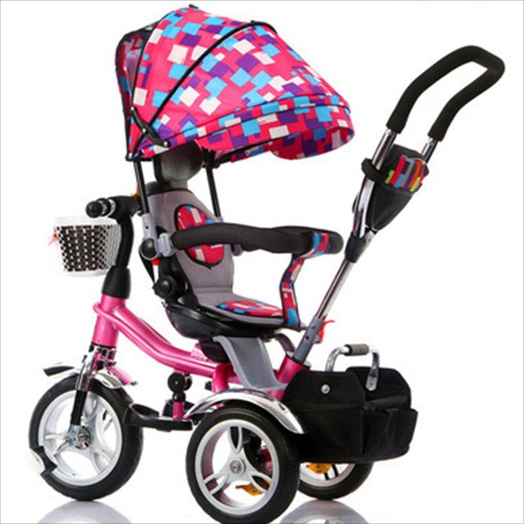 子供の屋内屋外の小さな三輪車自転車の男の子の自転車の自転車6ヶ月-5歳の赤ちゃんの3つのホイールトロリー目玉、泡のホイール/回転座席 (色 : 1) B07DVFYKT4 1 1