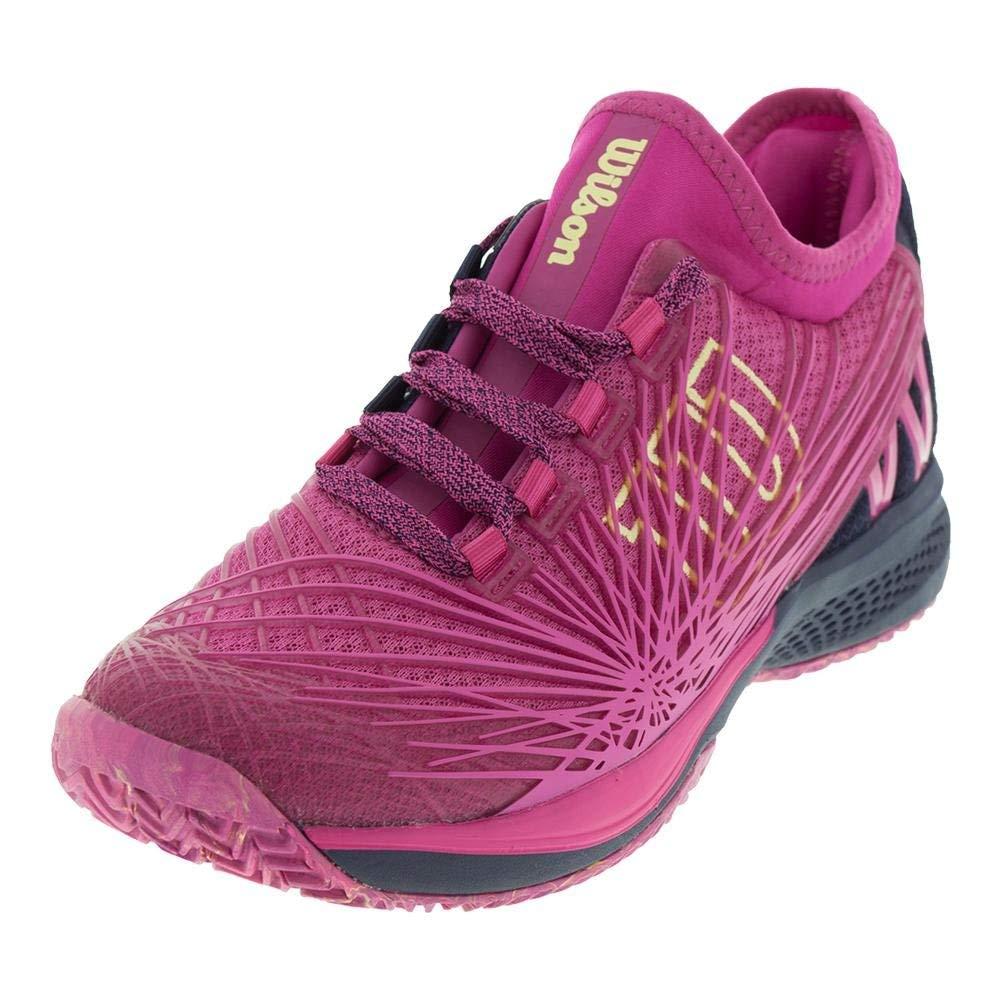 Wilson Women's KAOS 2.0 SFT Tennis Shoe (Very Berry/Evening Blue/Sunny Lime, 5.5 M US)