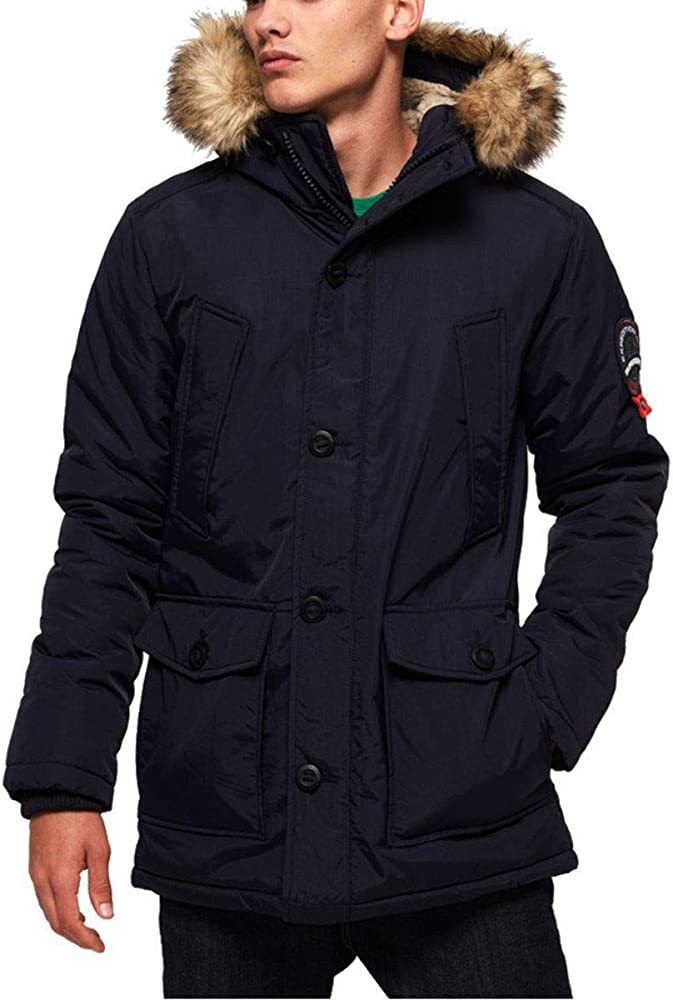 Men's Everest Parka Jacket, Blue