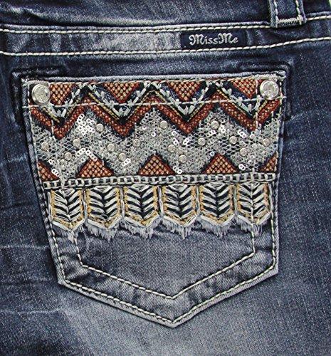 Back Embellished Pocket - Miss Me Women's Embellished Back Pocket Mid Rise Slim Boot Cut, MK, 27