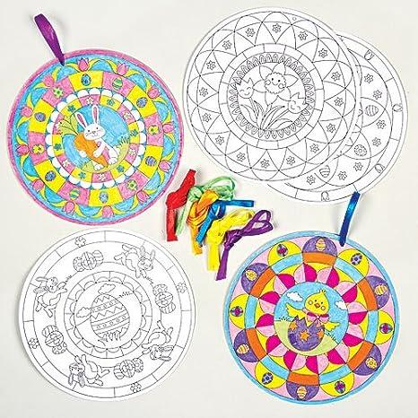 Decorazioni Pasquali Mandala Da Colorare Per Bambini Da Creare