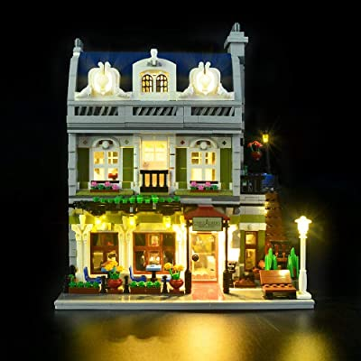 Hima LED Light kit for Lego 10243, The Brickwork LED Lighting kit Set Compatible with Parisian Restaurant Building Blocks Model, Not Include The Lego Model: Garden & Outdoor