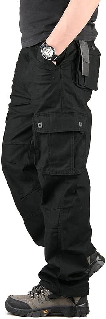 TAIPOVE - Pantalón de trabajo para hombre, con múltiples