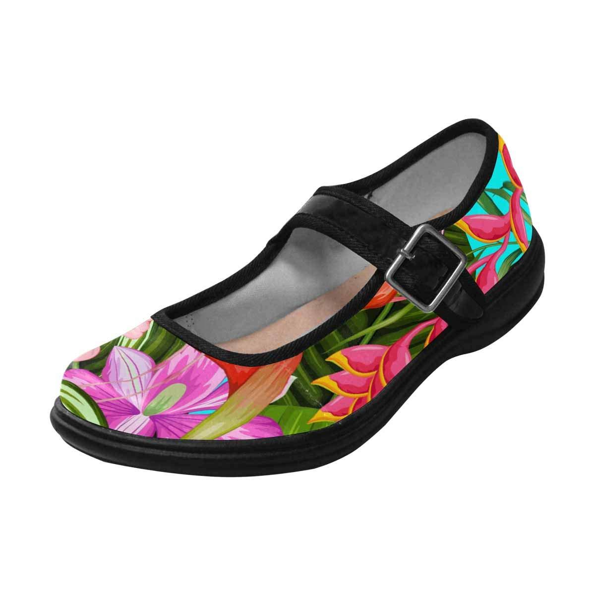 INTERESTPRINT Womens Satin Mary Jane Flats Ballet Shoes
