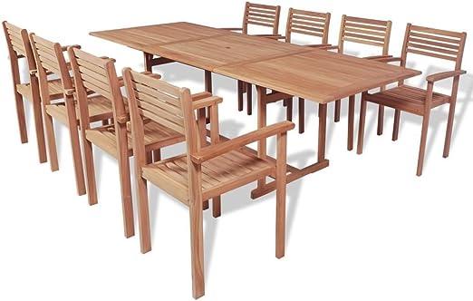 LD Teck 9 pièces Meubles de Salle à Manger Salon de Jardin ...