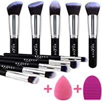 BEAKEY Makeup Brush Set Premium Synthetic Kabuki Foundation Face Powder Blush Eyeshadow Brushes Makeup Brush Kit with...