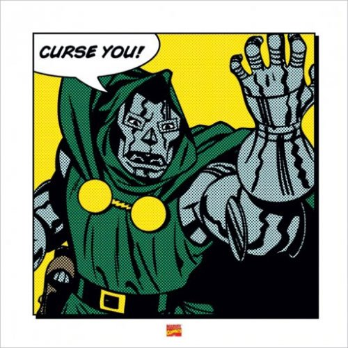 Dr. Doom - Marvel Comics Art Print / Poster Curse You Strip Set