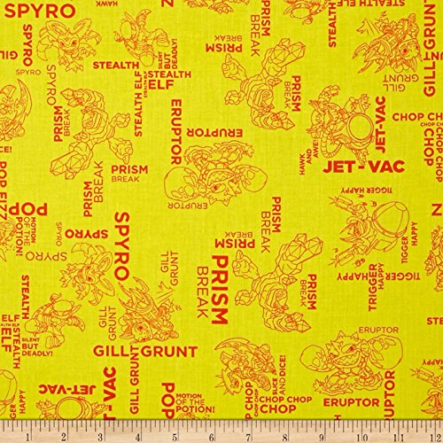 Skylanders Outlines Sunshine Fabric By The Yard -