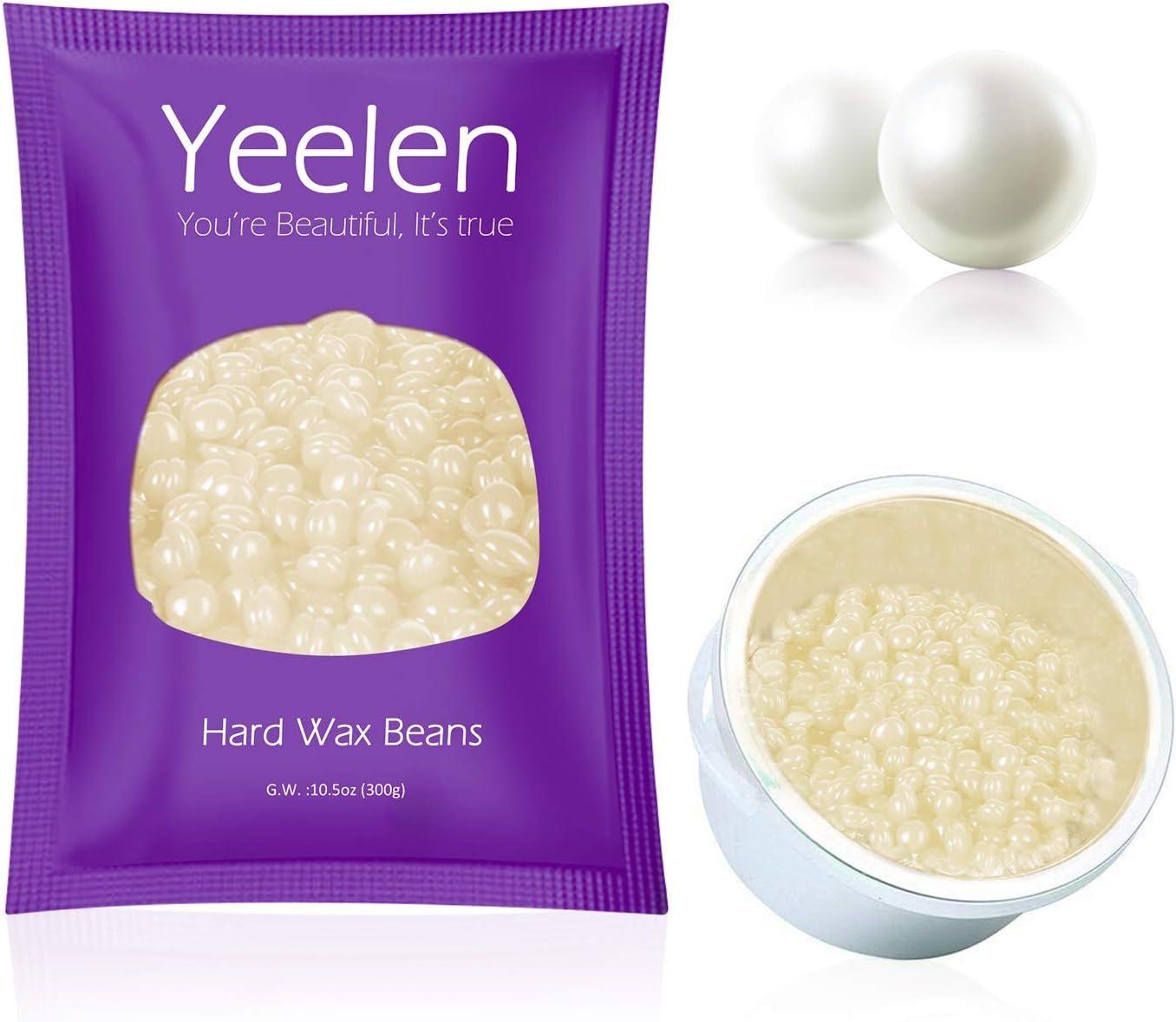 Yeelen Wax Bean Painless Hair Removal for Women Men for Facial Arm Legs Pearl Wax Beans (300g)