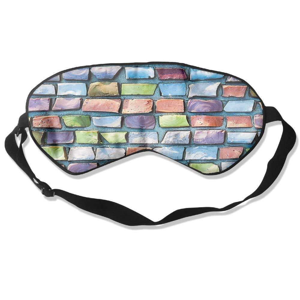 BetterStory Mosaic Textured Sketchy Brick Wall Display Glossy Grid Modern Artwork Adjustable Sleeping Eyes Mask Shading Sleep Mask